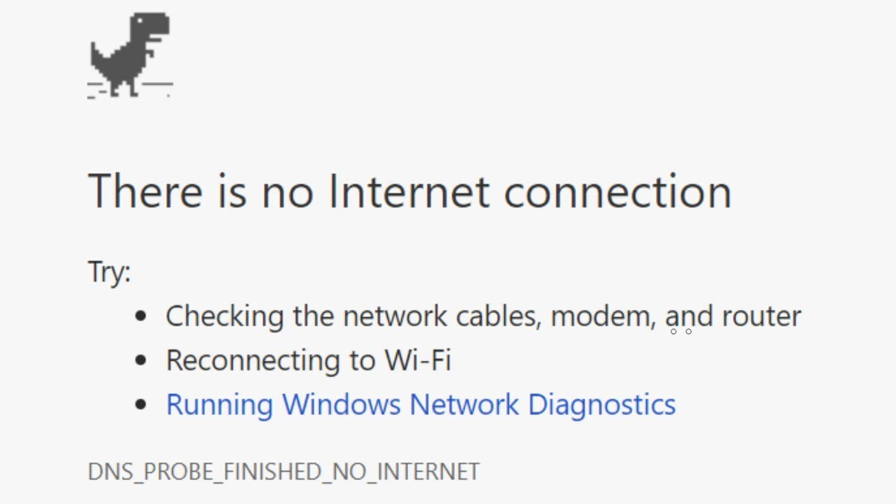 What To Do When There Is No Internet Connection
